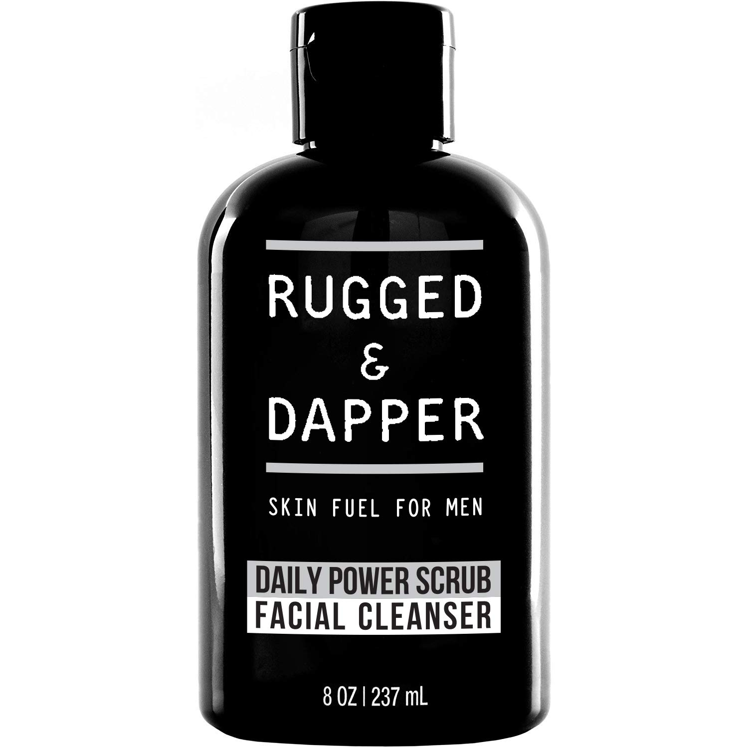 RUGGED & DAPPER skin fuel for men  daily power scrub facial cleanser