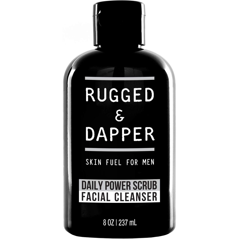 RUGGED & DAPPER skin fuel for men daily power scrub facial cleanser