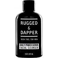 RUGGED & DAPPER Daily Face Wash and Scrub Cleanser for Men, 8 ounces