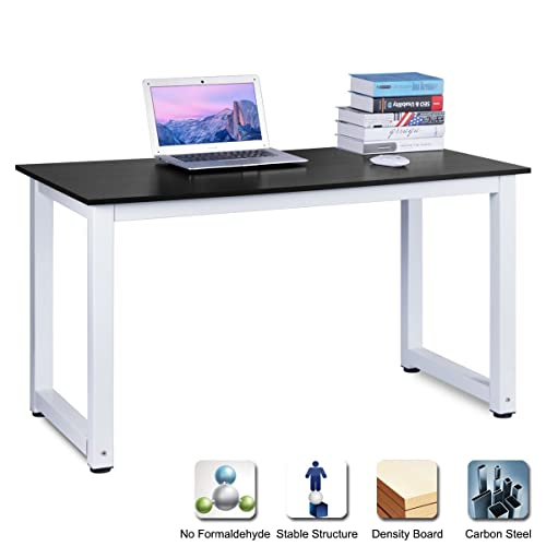 Computer Desk Pc Laptop Wood Table Home Office Study: Tribesigns Modern Simple Style Computer PC Laptop Desk