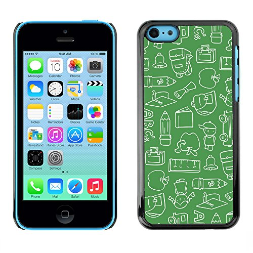 Premio Sottile Slim Cassa Custodia Case Cover Shell // V00002479 Motif Chalkboard // Apple iPhone 5C