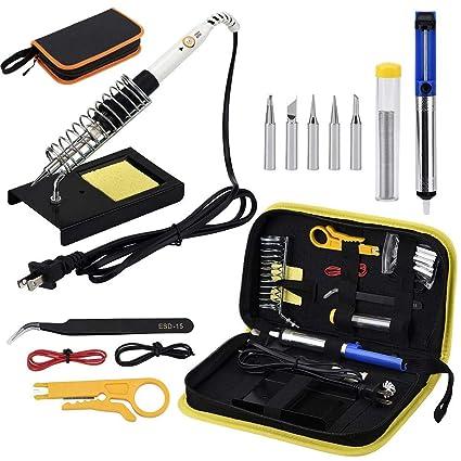 Kit de soldadura multifuncional, herramientas de reparación de teléfonos móviles con temperatura ajustable, herramienta