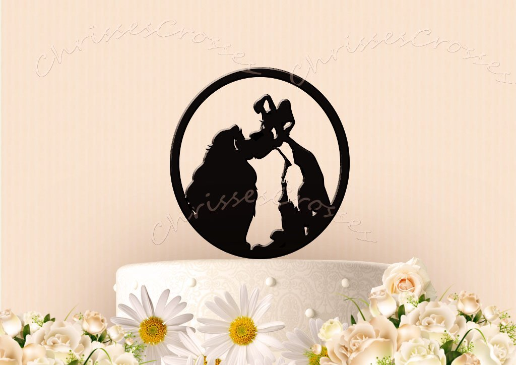 Amazon Com Lady And Tramp Inspired Cake Topper Handmade