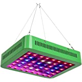 GROWNEER 300W LED Grow Light Bulbs Panel, Full Spectrum Plant Growing Lamps w/ Veg & Bloom Switch, Daisy Chain Connection, for Indoor Plants Greenhouse Seedlings Growing and Flowering