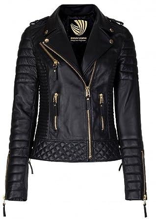Exportica Leather Women's Lambskin Leather Motorcycle Biker jacket ...
