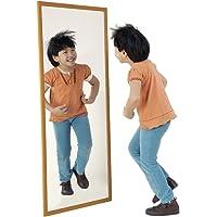 Henbea- Espejo Infantil acrílico con Marco de Madera