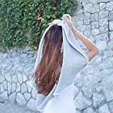 Microfiber Hair Towel - For Fast, Safe & Frizz-free Drying - Premium Large, Compact, Lightweight and Absorbent - One Size Fits All - Gray