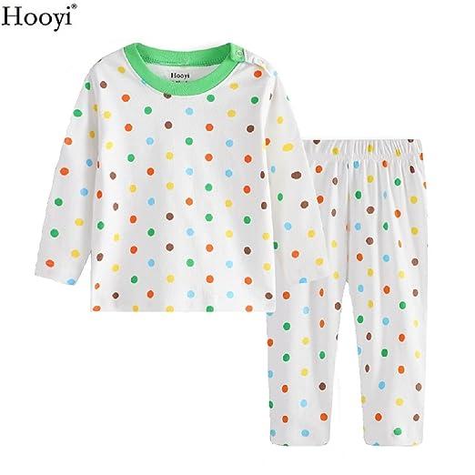 ce247a434c Hooyi 2018 Baby Boys Colorful Dot Pajamas Clothes Newborn Sleepwear Set  (3-6month)