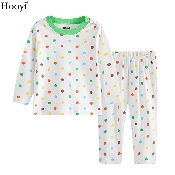 Amazon.com: hooyi 2018 Niños Pijamas de Manga Larga de bebé ...