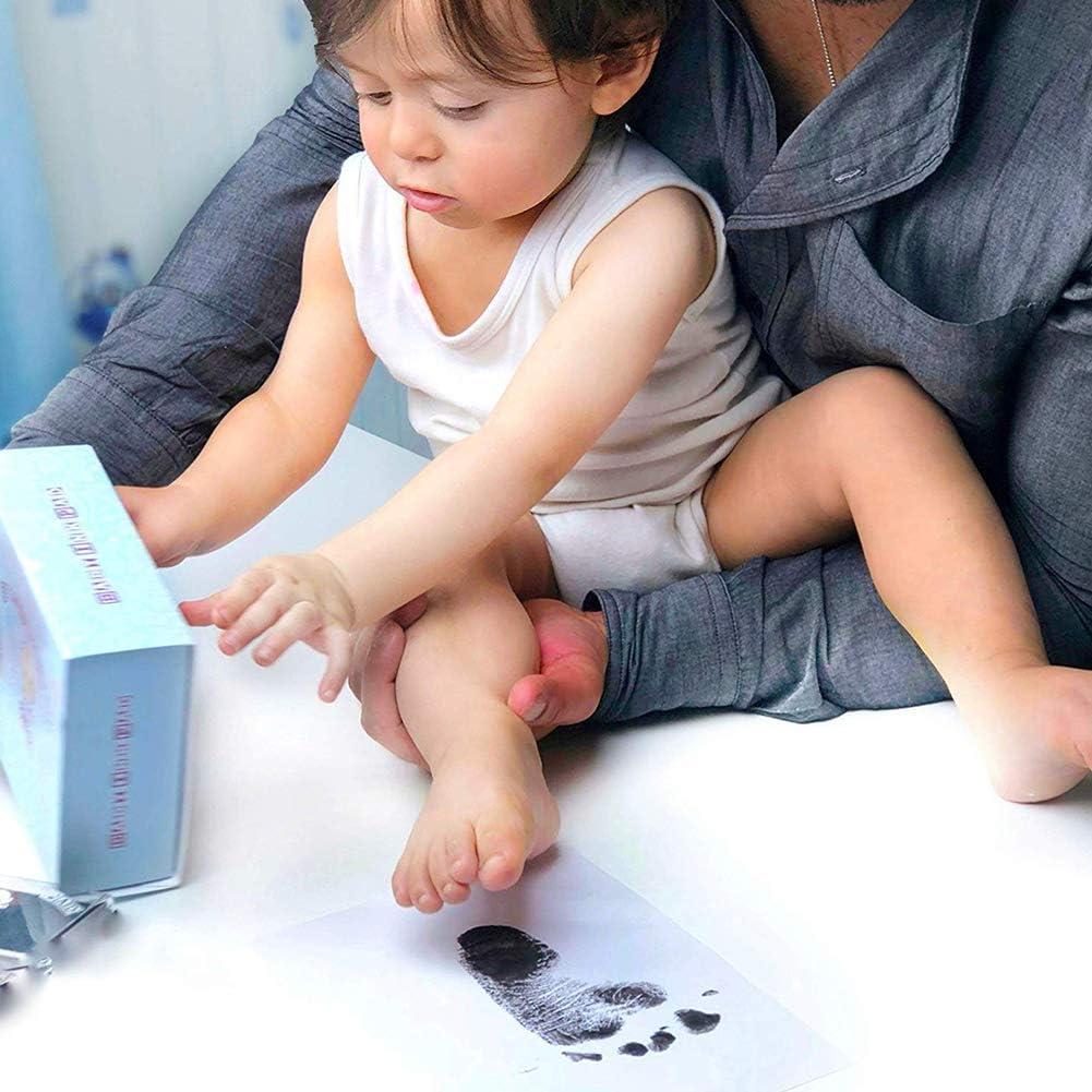 Huella de Tinta no T/óxica BESTZY Huella Mano Pie Bebe Almohadillas de Tinta de Huella de Beb/é Recien Nacidos Kit de Almohadilla de Tinta para Beb/é Huella Bebe