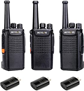 Retevis RT67 Walkie Talkies for Adults Long Range 3000mAh Rechargeable VOX Business Small Two Way Radio with LED Flashlight(3 Pack)