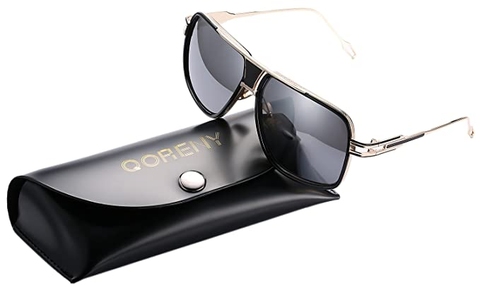 f191eb43a2 Image Unavailable. Image not available for. Colour  Aviator Sunglasses For  Men Goggle Alloy Frame Brand Designer (gold ...