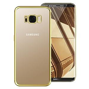 Coque Samsung Galaxy S8 , Tronisky [Absorption de Choc] Galaxy S8 Housse Résistante antichoc Premium TPU Silicone Bumper Coque pour Samsung Galaxy S8 - Gold