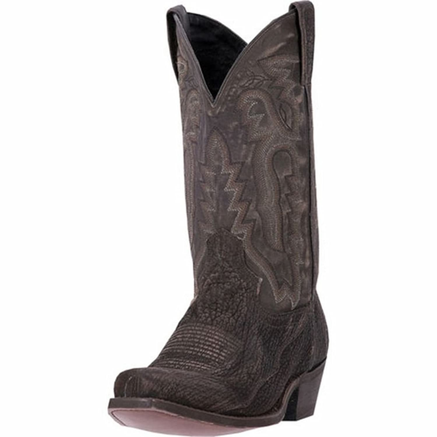 outlet Laredo Men's Douglas Shark Cowboy Boot Square Toe Black 9 D ...