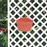 Mr. Garden 12 Inch Plastic Wall-Mounted Planter, Brick Red, 2pack