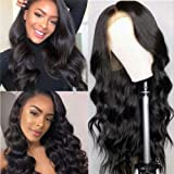 Hepoiss Lace Front Human Hair Wigs Pre Plucked Hairline Bleached Knots 150% Density Brazilian Body Wave Lace Front Wigs…