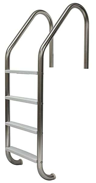 Amazon.com: Acero inoxidable 4 paso escalera de pared recto ...