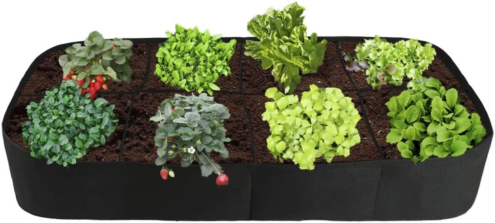 Amazon.com : Raised Garden Bed, Divided 8 Grids Fabric Raised ...