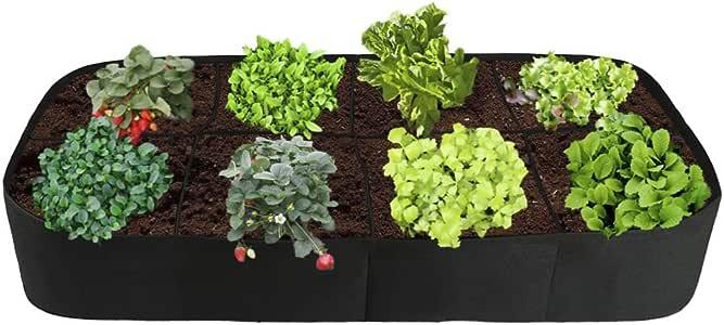 NewPointer - Macetero de jardín con 8 rejillas divididas, bolsa de ...
