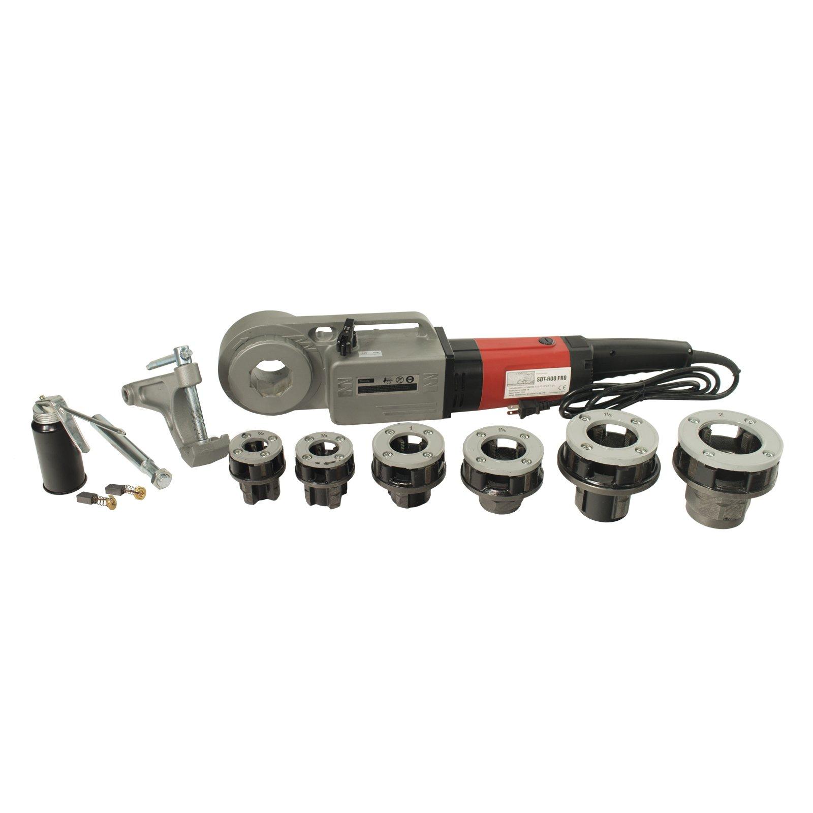 Steel Dragon Tools 600 Pro 1/2''-2'' Pipe Threader 16013 fits RIDGID 11-R Die Heads, 12-R Dies