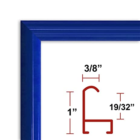 Amazon.com - 13 x 37 Blue Poster Frame - Profile: #15 Custom Size ...