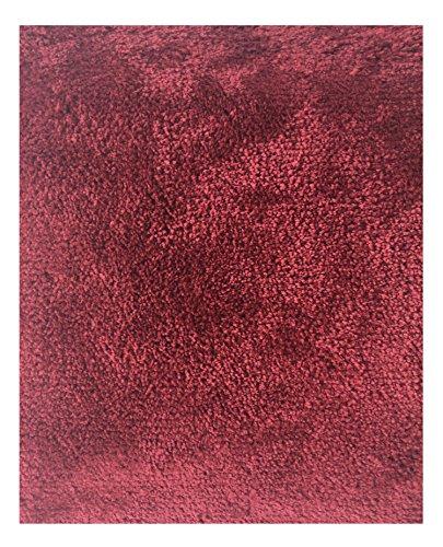 Mohawk Home Cut To Fit Ribbon Saxony Plush Bath Carpet, Merlot, 5 by 6 Feet ()