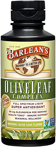 Barlean s Organic Olive Leaf Complex, Natural Flavor, 8 Ounce
