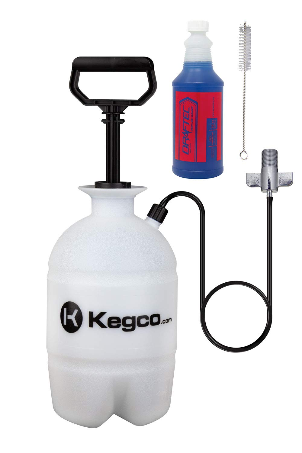 Draftec DTPCK Deluxe Beer Line Cleaning Kit Hand Pump Pressurized Keg with 32 oz. Cleaner by Draftec