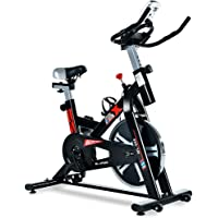ML-Speed Indoor Exercise Cycling Bike with LCD Monitor for Home Cardio and Workout (Black)
