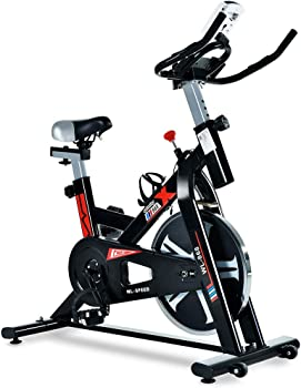 ML-SPEED Silent Belt Driven Exercise Bike with LCD Monitor