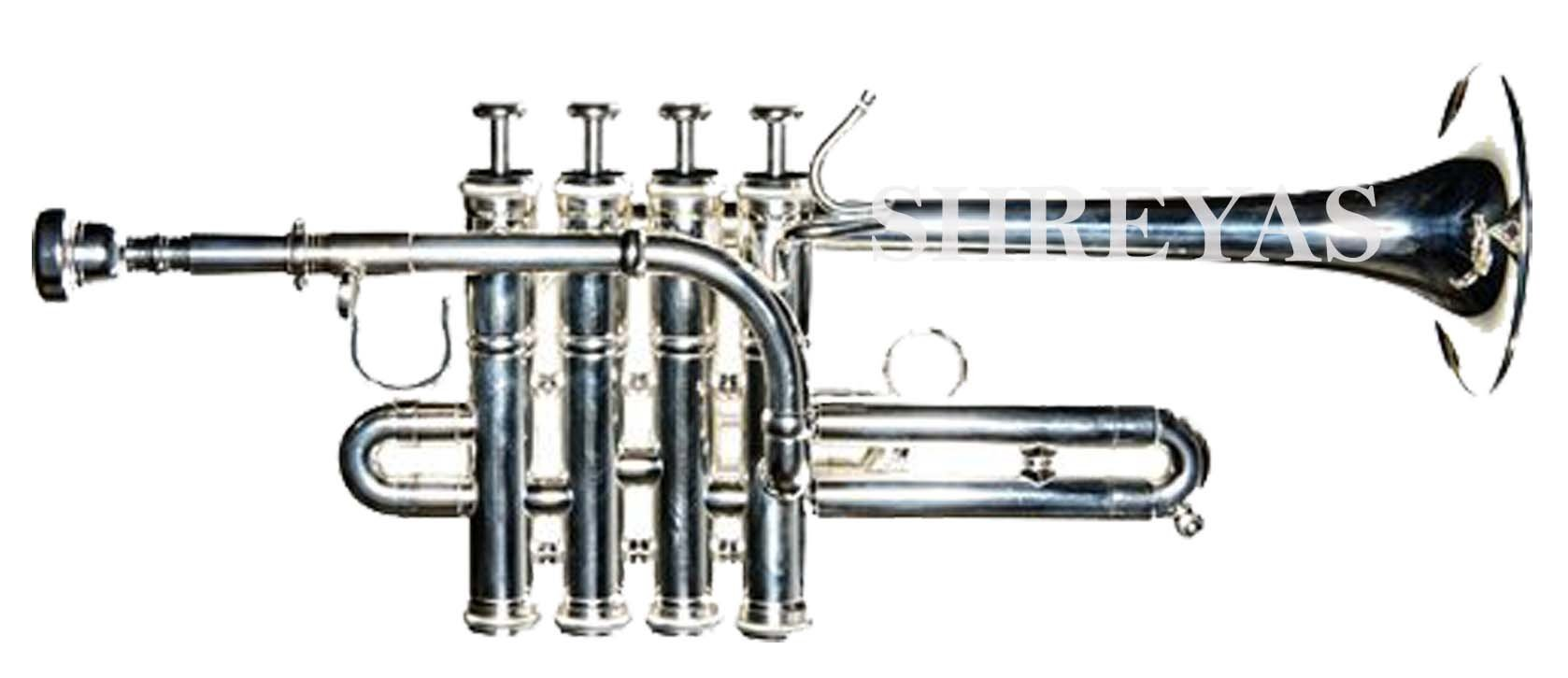 SHREYAS - OPEN BOX SPECIAL- Piccolo Trumpet With Free case & Mouthpiece by