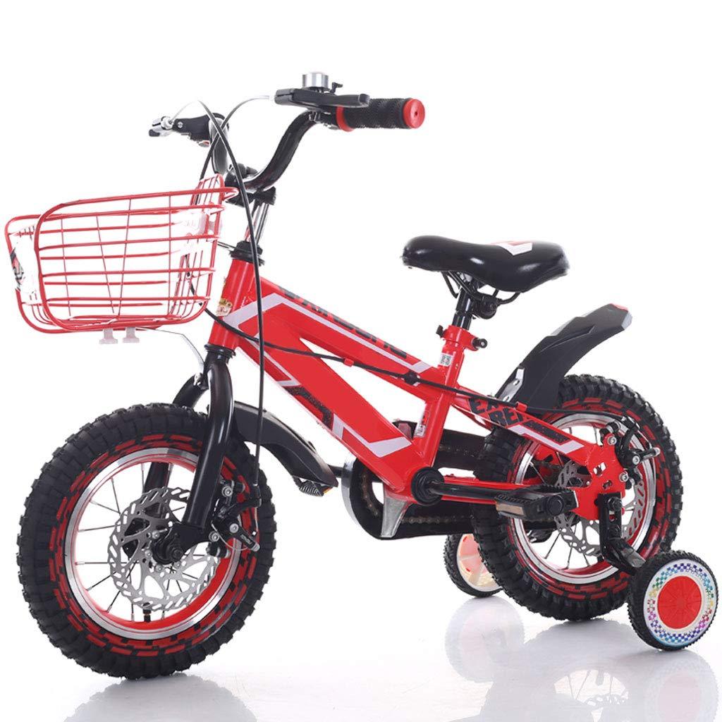 Bicicletta Per Bambini 2-4-6-7-8-9-10 Anni Ragazzo 12 14 16 18 Pollici con Ruota Ausiliaria (Misura  14 Pollici)