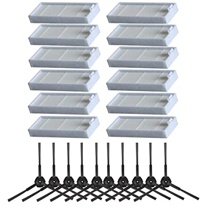 Electropan Replacement Side Brushes Filters for ILIFE V3 V3s V3s pro ILIFE V5 V5s V5s pro