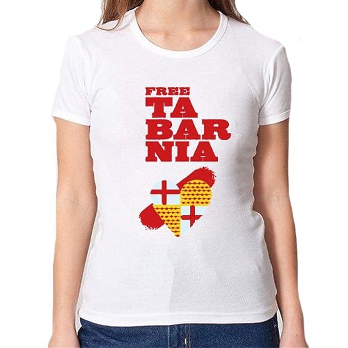 Camiseta chica escudo Free Tabarnia (S)