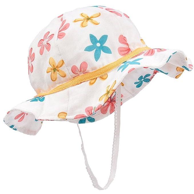 cicity Motivo Floreale Cappello da Pescatore Baby Cappello da Sole per  Bambine Ragazze Neonati Cappello di ef4cb79cb47a