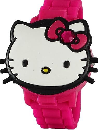 Hello Kitty para niña de 3d rosa reloj Digital con función de Pop-Up hk4014: Amazon.es: Relojes