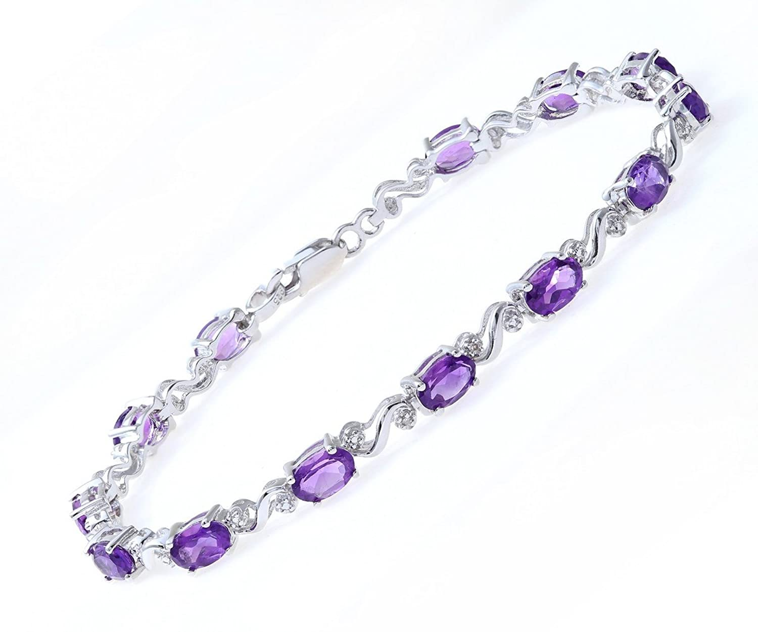 bracelet stone purple lightbox product in disciple clothed