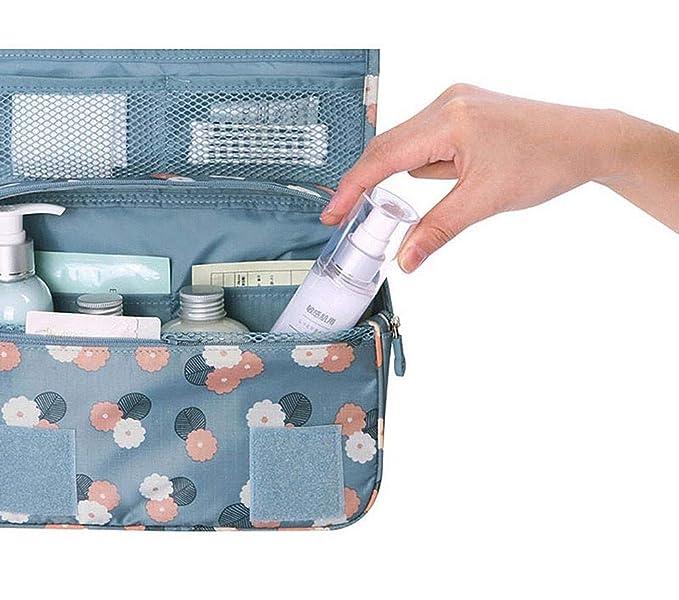 1c7c222bda Yaida💞💞Pockettrip Hanging Toiletry Kit Clear Travel Bag Cosmetic Carry Case  Toiletry (Blue