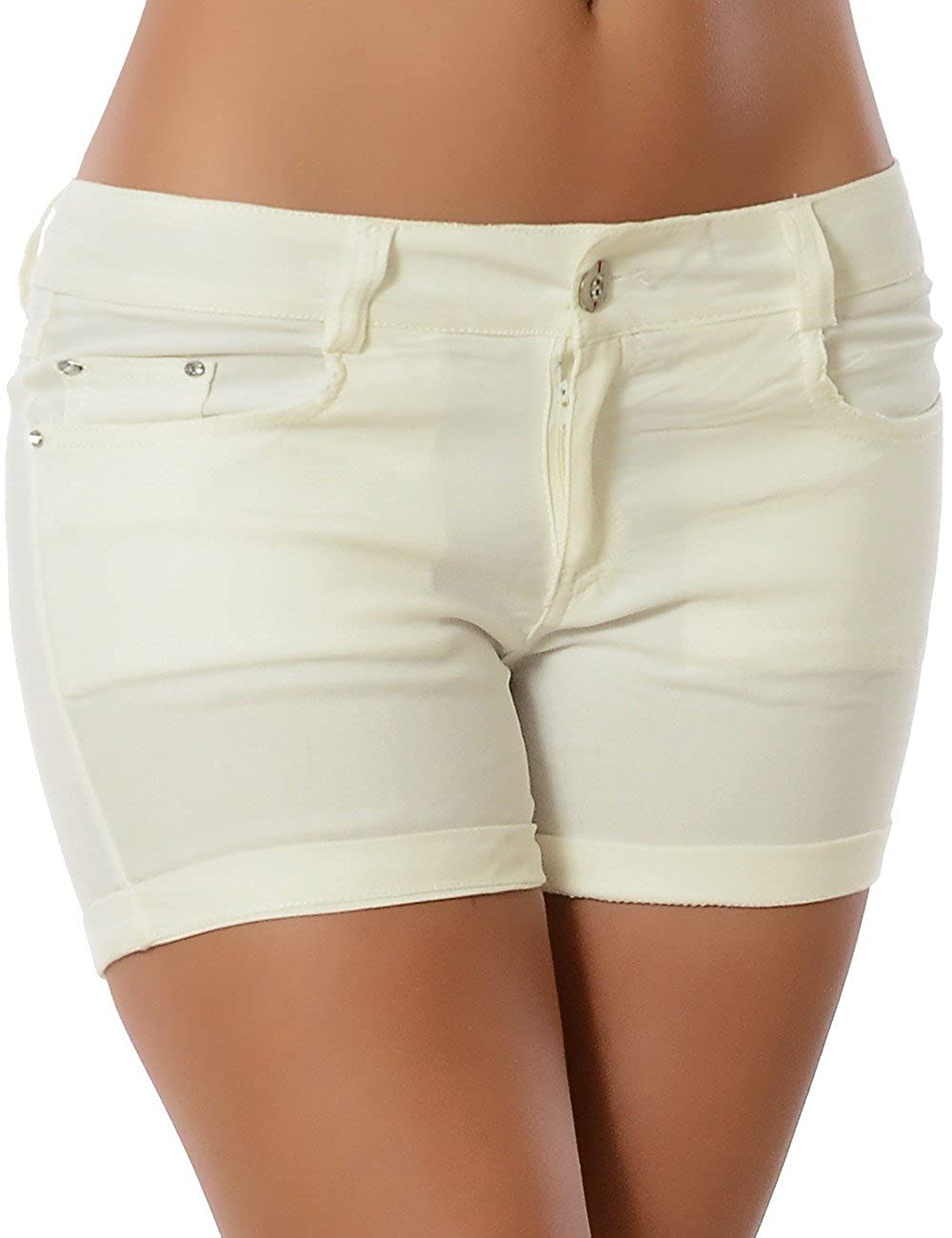 Damen Shorts Hot-Pants Kurze Hose DA 13289 DA13289-1106