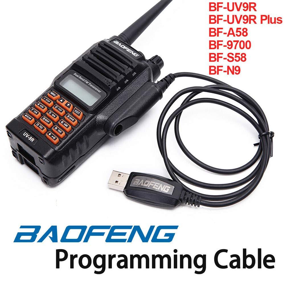 Cable programaci/ón USB Pieza repuesto PC Radio Accesorios duraderos Profesional Walkie Talkie Estable eficiente para Baofeng BF-A58