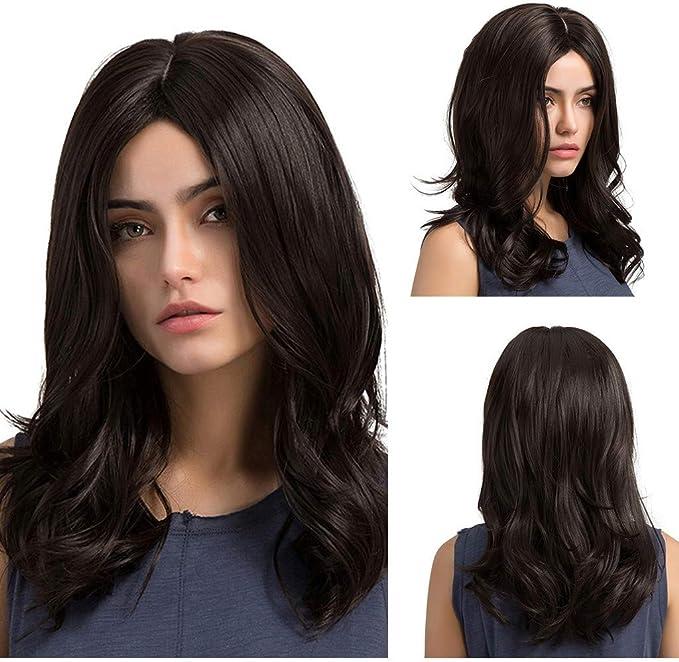 Angelof - Peluca natural para mujer (pelo grueso, lisa, sin ...