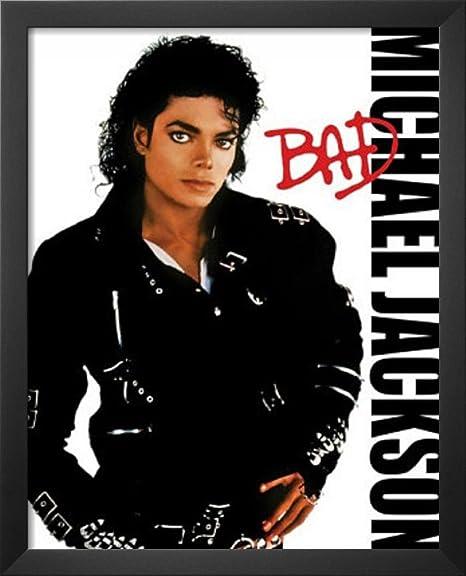 amazon com michael jackson bad album cover music poster print
