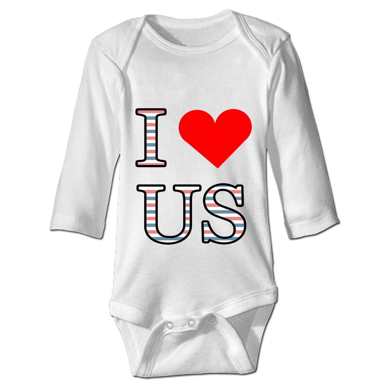 KuLuKo I Love US Baby Sports Bodysuit Jumpsuit