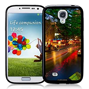 Cool Painting San Antonio River Walk At Night - Protective Designer BLACK Case - Fits Samsung Galaxy S4 i9500