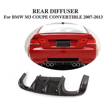 Jcsportline Carbon Fiber Rear Quad Diffuser Lip For BMW 3 Series E92 M3 E93 Bumper 2007
