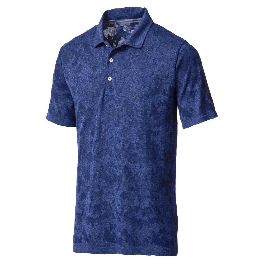 Puma Golf Men's 2018 Evoknit Camo Polo, Small, Sodalite Blue