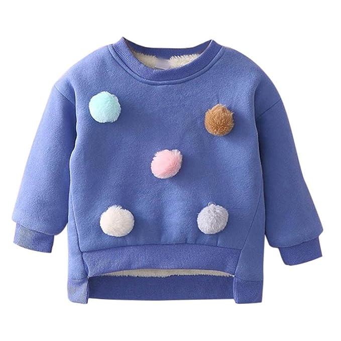 Logobeing Niños Pequeños Bebé Niñas Ropa Camisas de Manga Larga Camisetas Calientes Camiseta Blusas 3-