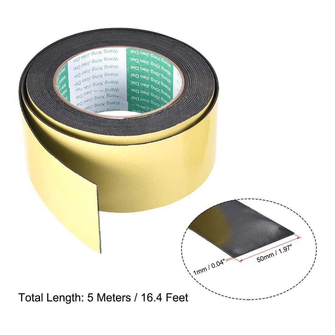sourcing map Joint mousse ruban 10mm large 5mm /épaisseur 9,8 long /étanch/éit/é adh/ésif 2pcs