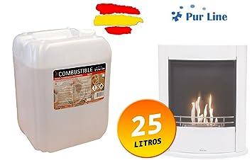 Garrafa de 25 litros de bioetanol puro para biochimeneas: Amazon.es: Bricolaje y herramientas