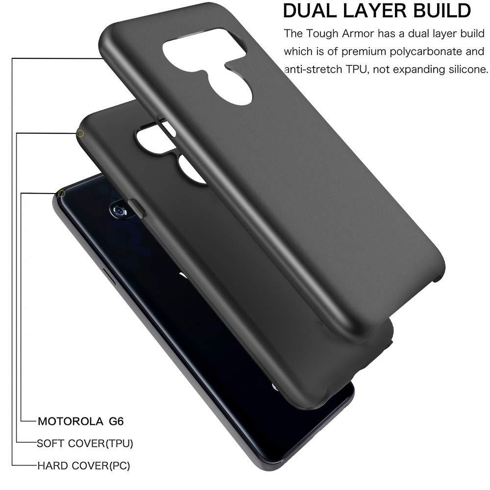 LG V40 ThinQ Case, Androgate [Pearl Series] Hybrid Matte Protective Back Cover Bumper Case LG V40, Black